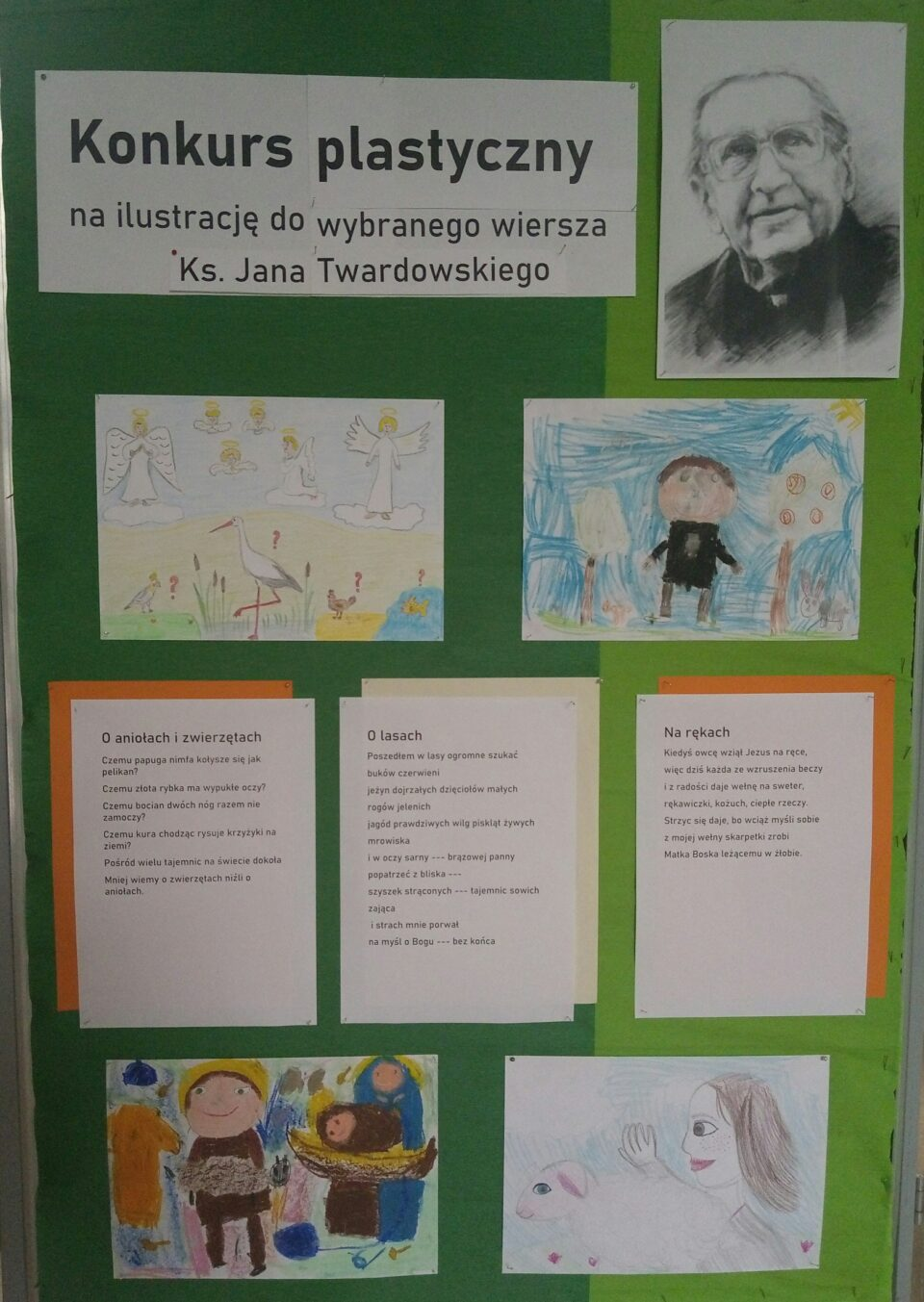 Rozstrzygnięcie konkursu plastycznego na ilustrację do wybranego wiersza ks. Jana Twardowskiego